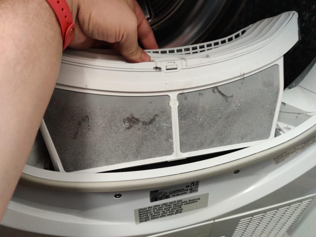 filtr kłaków w suszarce automatycznej